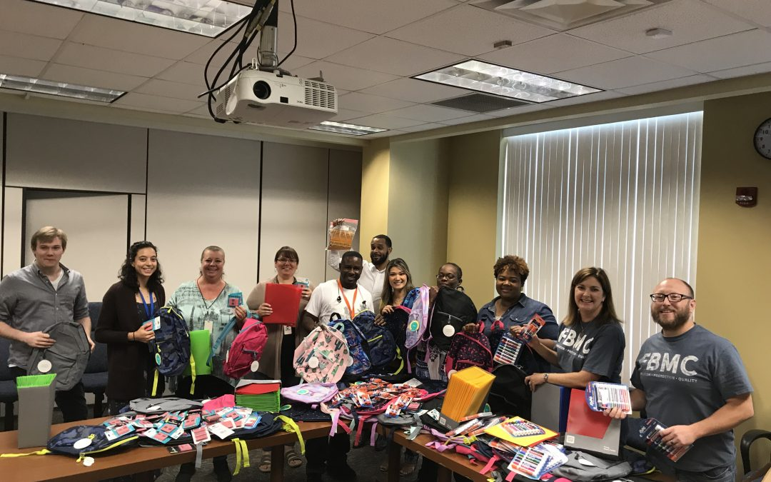 FBMC Donates Back Packs and School Supplies to Sabal Palm Elementary